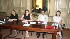 Mediatorii doljeni au o nouă structură, numită Corpul Profesional al Mediatorilor. La prezidiu s-au aflat șefii noii entități. (Foto: Traian Mitrache)
