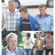 Tânărul şi mama sa (dreapta jos) au fost reţinuţi sub acuzaţia de omor, dar magistraţii au decis ca doar băiatul să fie arestat preventiv pentru 30 de zile. Tatăl băiatului (stânga jos) se despărţise  de mama acestuia şi venise din Petroşani în comuna Scoarţa din judeţul Gorj unde trăia împreună cu femeia ucisă. (Foto: Eugen Măruţă)