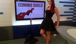 """Andreea Dogaru s-a aflat în platoul Alege TV, la emisiunea """"Economia Sudului"""""""