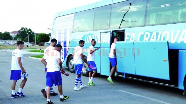 Alb-albaştrii au plecat cu optimism spre Târgu Mureş şi trebuie să se întoarcă cu un rezultat pozitiv (Foto: Alexandru Vîrtosu)