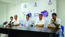 La conferință au fost prezenți Zlatko Jovanovic (stânga), Cătălin Burlacu, Marius Barcan, Oliver Popovic și Vladimir Vuksanovic (Foto: Bogdan Grosu)