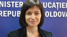 Maia Sandu, ministrul în exercițiu al Educației din Republica Moldova, a fost desemnată drept candidată pentru funcţia de premier (Foto: diez.md)