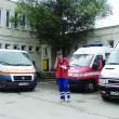 Copilul a fost transportat cu o ambulanţă la Bucureşti