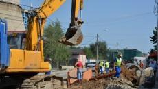 Lucrările pe strada Bariera Vâlcii au fost reluate de două zile (Foto: GdS)