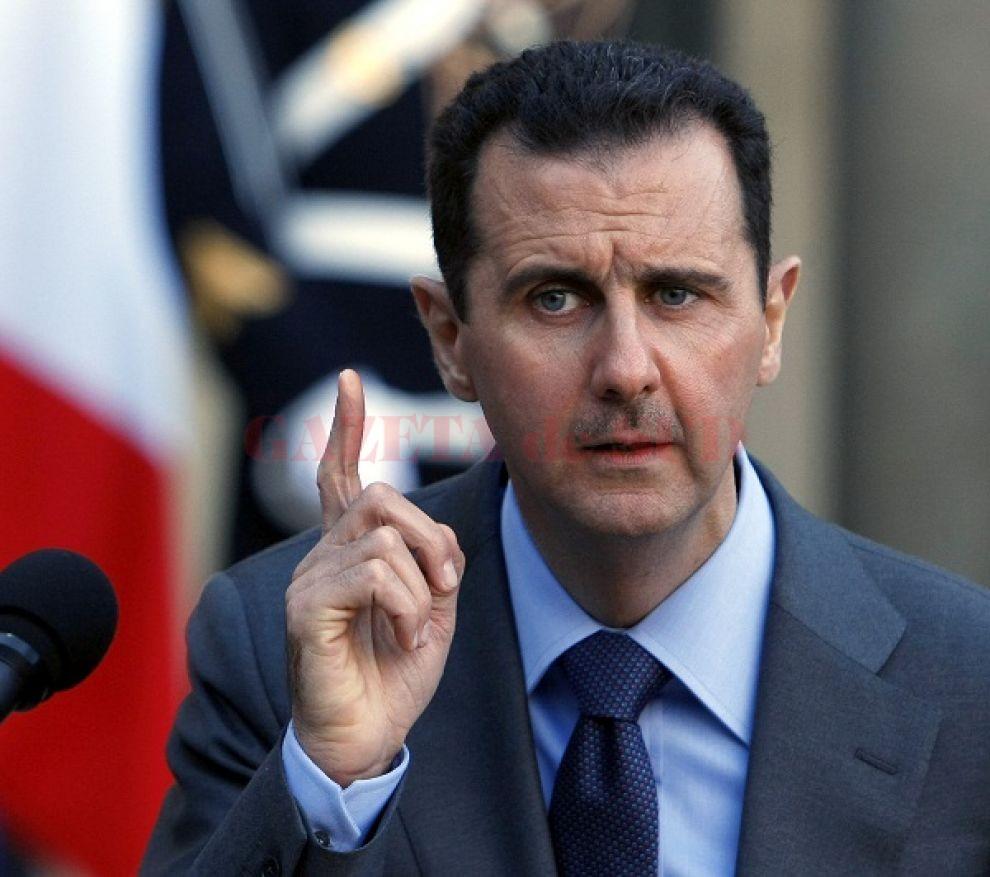 Lui Bashar al Assad i s-a făcut rău în timpul unui discurs