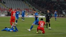 Gorjenii (în albastru) au șansa să se revanșeze în fața dinamoviștilor în Cupa României (foto: panduriics.ro)