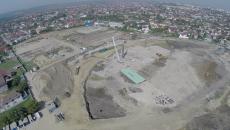 Așa arată, văzute de sus, șantierele de la stadioanele de atletism și de fotbal (Foto: Marian Vulcănescu)