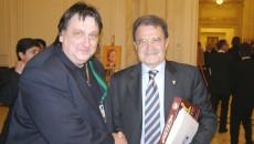 Maestrul Ștefan Popa Popa'S cu Romano Prodi (FOTO: Arhivă personală Popa'S)