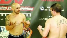 """Sorin """"Pantera"""" Tănasie (stânga) a acceptat o nouă provocare - un meci de kickboxing (Foto: sportnews.ro)"""
