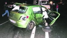 În ianuarie 2007, Peugeotul condus de Negoiță a intrat pe contrasens și a lovit în plin un autoturism care circula regulamentar (Foto: arhiva GdS)