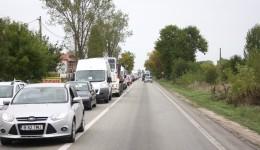 Începând cu 30 septembrie, pe DN 65 s-au format cozi de mașini care s-au întins  pe câțiva kilometri (Foto: GdS)
