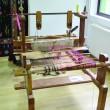 Războiul de țesut este așezat la loc de cinste în atelierul de la Ponoarele (Foto: Claudiu Tudor)