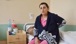 Violeta Ciortan a venit din Spania să se opereze de hernie de disc în Secția  de Neurochirurgie din Craiova (FOTO: Lucian Anghel)