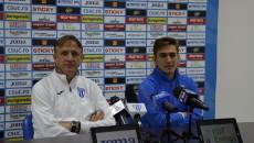 Emil Săndoi şi Bogdan Vătăjelu îşi doresc victoria cu ACS Poli Timişoara (foto: Alexandru Vîrtosu)