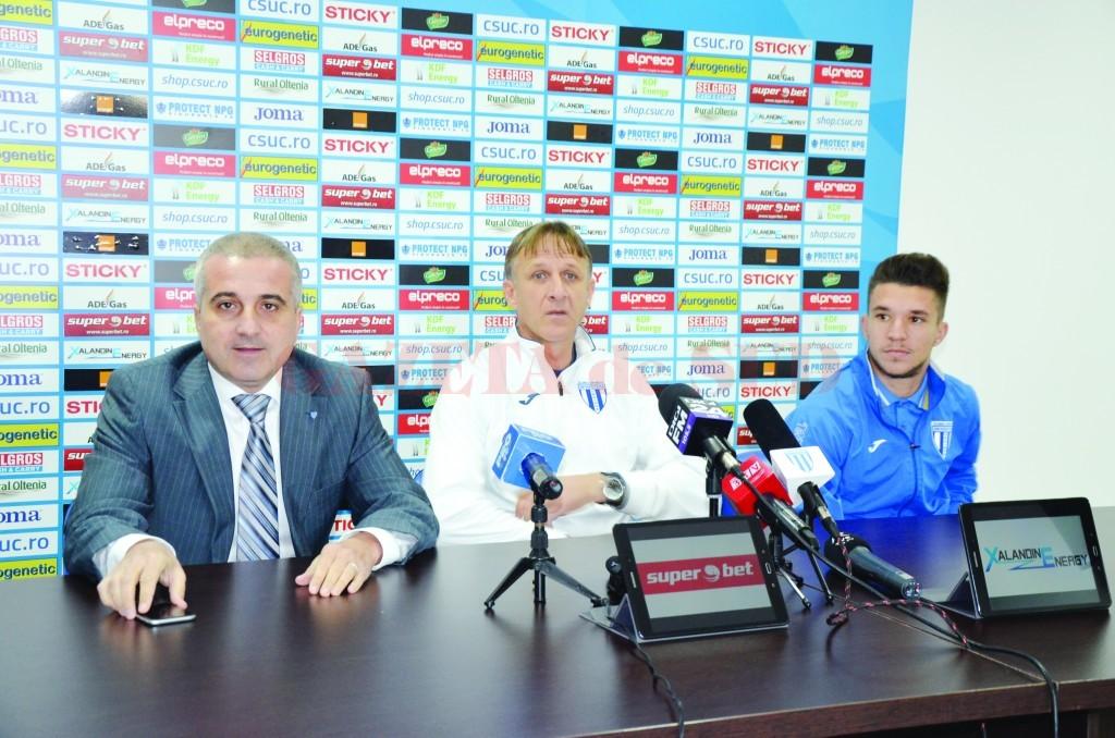 Felix Grigore, Emil Săndoi şi Alex Băluţă cred că CS Universitatea va bifa un rezultat pozitiv la Constanţa (Foto: Alexandru Vîrtosu)