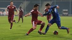 Mihai Răduț (la minge) a restabilit egalitatea în disputa cu FC Voluntari (foto: panduriics.ro)