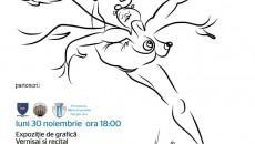 Afişul expoziţiei de grafică