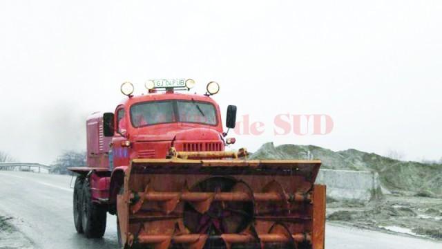 Secţia de Drumuri Naţionale Târgu Jiu nu are decât nouă utilaje proprii