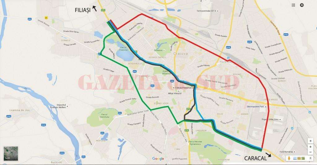 Harta Craiova Variante Ocolire Net Gazeta De Sud