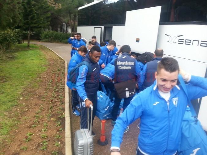 Jucătorii Craiovei au ajuns în Belek (foto: csuc.ro)