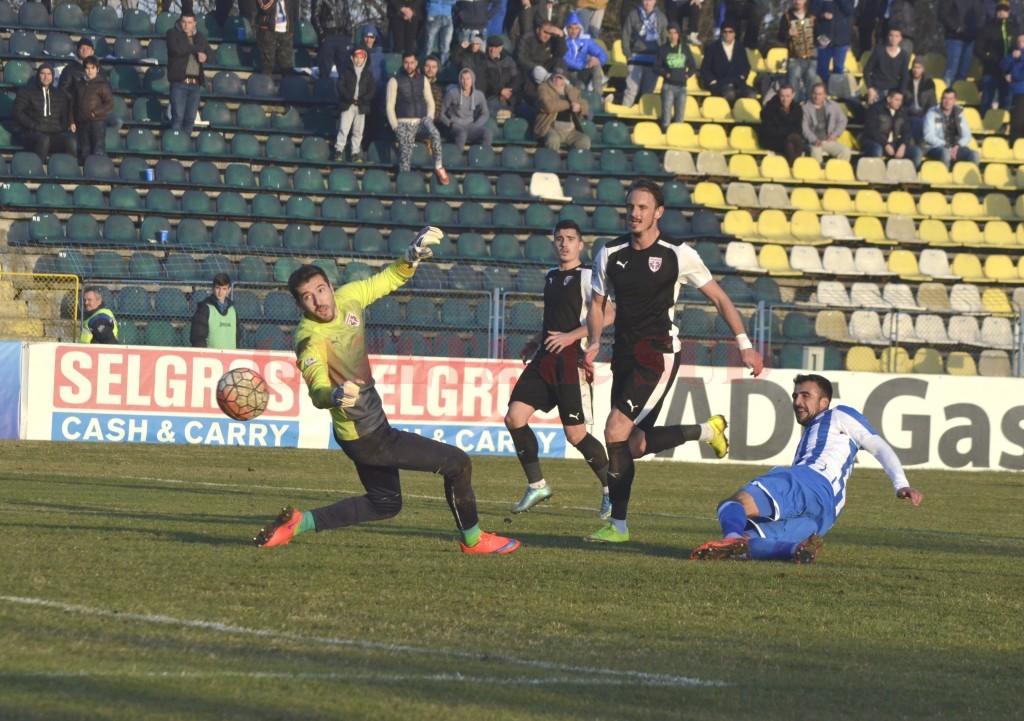 Portarul Dragoș Balauru l-a impresionat pe selecționer, probabil, cu numărul de goluri primite în acest sezon din Liga I (foto: Alexandru Vîrtosu)