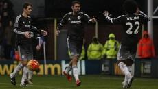 Diego Costa (centru), Willian şi Oscar au adus primul succes pentru Chelsea în 2016