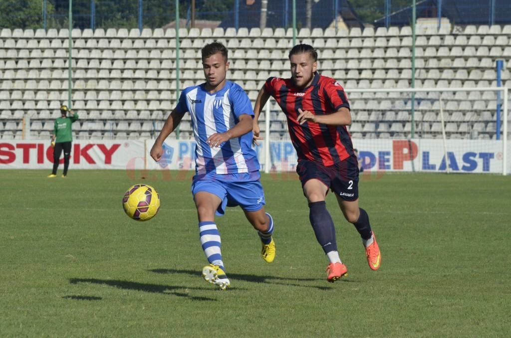 Alin Manea (la minge) va merge cu lotul României U19 în Cipru (foto: Alexandru Vîrtosu)