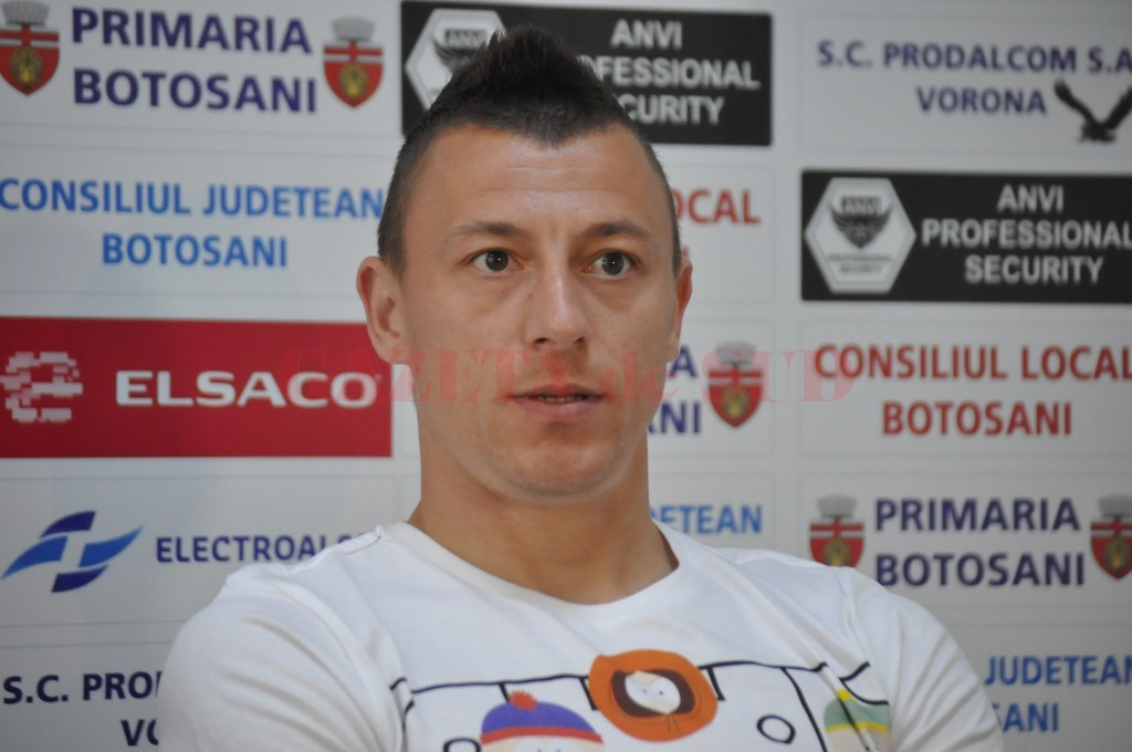 Florin Acsinte va evolua pentru Pandurii din 2016 (foto: stiri.botosani.ro)