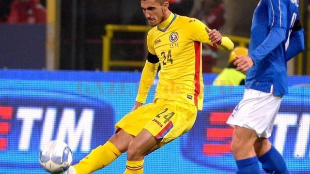 Andrei Ivan (la minge) a marcat în confruntarea cu gruzinii