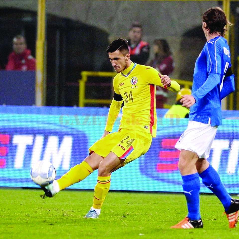 Andrei Ivan a dat un gol şi o pasă de gol în confruntarea cu formaţia din Georgia