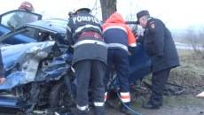 În urma accidentului,  asistenta medicală  s-a ales cu leziuni grave (Foto: Eugen Măruţă)