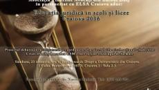 afis Proiect Educatia juridica in scoli si licee - Craiova   2016