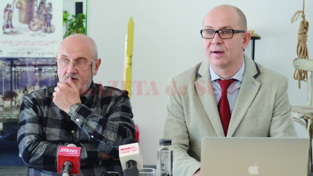Mircea Cornişteanu (foto stânga) i-a predat ştafeta lui Alexandru Boureanu (Foto: Traian Mitrache)