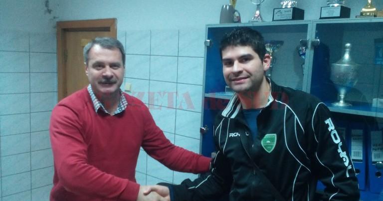Kleist, alături de directorul SCM Craiova, Marius Barcan (foto: SCM Craiova)