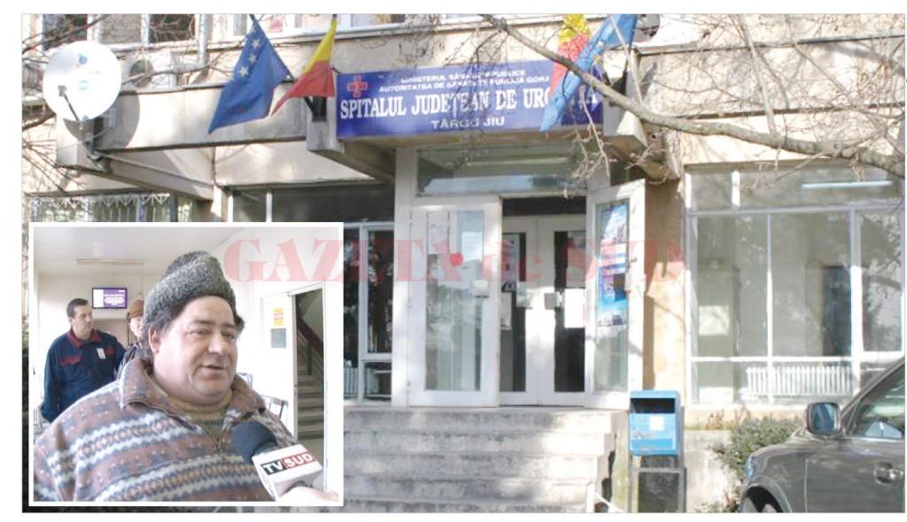 Tatăl bebelușului mort (foto medalion) îi acuză pe medicii de la Spitalul Judeţean Târgu Jiu că nu ar fi intervenit la timp (Foto: Eugen Măruţă)