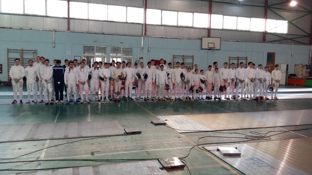 La proba individuală la masculin s-au înscris 51 de competitori (foto: FR Scrimă)