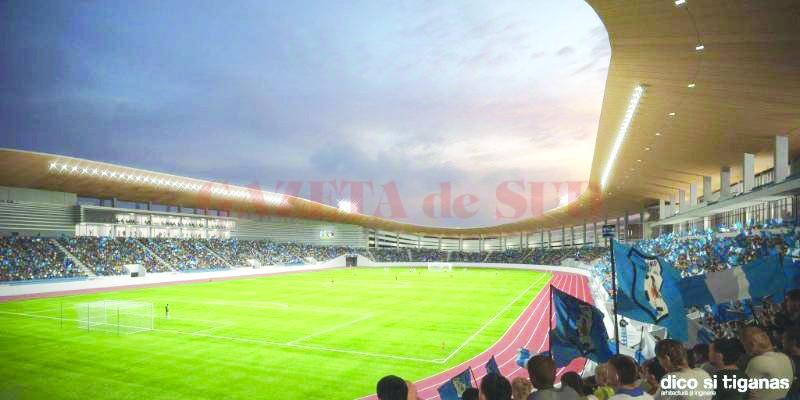 Lucrările de modernizare a stadionului municipal din Târgu Jiu sunt finanţate de Compania Naţională de Investiţii