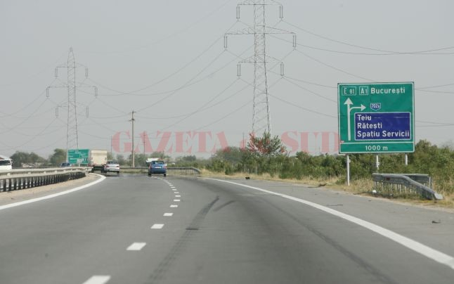 S-a deschis parțial circulația pe podul de la km 36, Autostrada București-Pitești