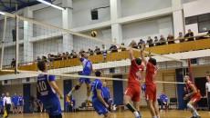 Voleibaliștii craioveni (în albastru) au obținut o victorie prețioasă la Galați