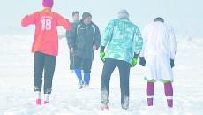 Ciurea şi elevii săi ar putea da din nou de zăpadă la Kladovo (Foto: Alexandru Vîrtosu)