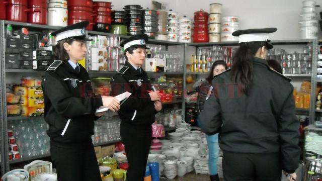 Poliţia a aplicat şi o amendă în timpul verificărilors