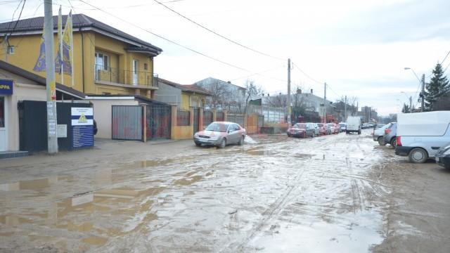 Strada Bariera Vâlcii, plină de mocirlă (Foto: Traian Mitrache)