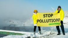 Greenpeace a protestat împotriva punerii în funcţiune a grupului energetic 7 de la Turceni