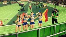 Ștafeta României, din care a făcut parte și Adelina Pastor (a doua din stânga) a cucerit bronzul mondial