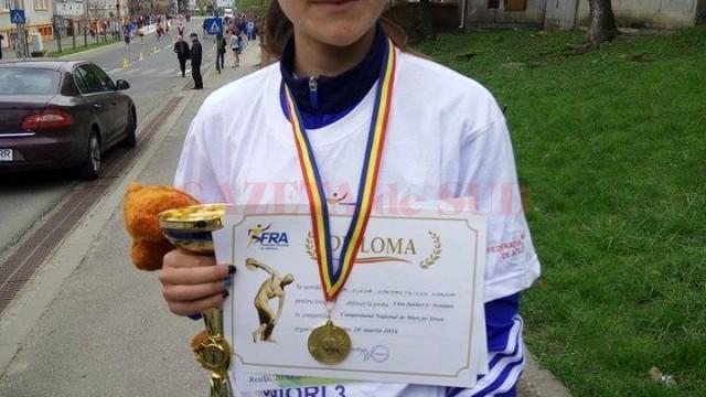 Speranța Costea a obținut titlul național la marș