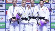 Craioveanca Monica Ungureanu (a doua din dreapta) a urcat pe podium la Europene