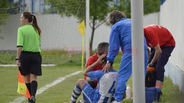 Samuel Luică s-a ales cu capul spart după un duel cu un adversar