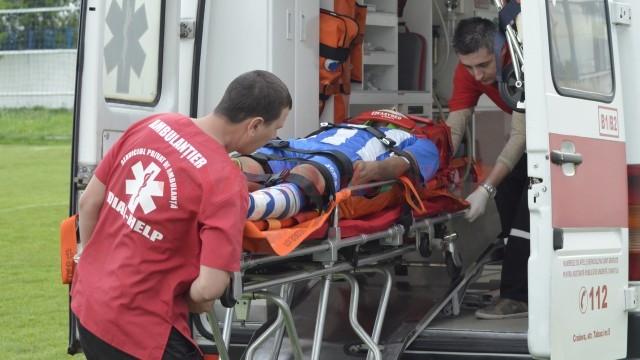Luică a fost transportat la spital pentru investigații suplimentare