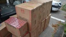 Oamenii legii au găsit acasă la un bărbat din Ciupercenii Noi aproape 12.000 de pachete de țigări de contrabandă (Foto: IPJ Dolj)