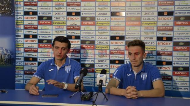 Daniel Mogoşanu şi Bogdan Vătăjelu au susţinut o conferinţă de presă (foto: Alexandru Vîrtosu)